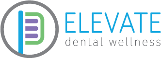Elevate Dental Wellness logo in blue, green, and purple