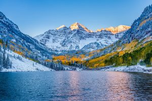 A scenic lake and mountains in Aspen